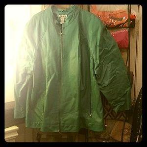 Leather jacket ,Teal